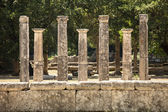 Siete pilares griegos en olimpo — Foto de Stock