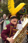 Band Member In Solstice Parade — Stock Photo