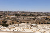 Jerusalem View With Cemetery — Stock Photo