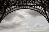 Eiffel Tower Ironwork — Stock Photo