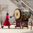 Stock Photo: Striking Ceremonial Drum