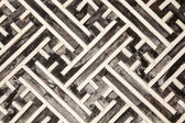 Korean Geometric Pattern In Wood — Stock Photo