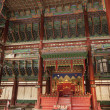 Stock Photo: Royal Throne Room In Korea