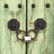 Korean Door Detail — Stock Photo