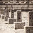 Row Of KoreRank Stones — Stock Photo #18394317
