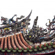 Stock Photo: Chinese Dragon Roof Detail