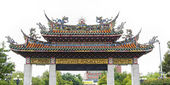 Gate To Mengjia Longshan Temple — Stock Photo