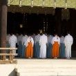 Shinto Temple Ritual Worship - Stock Photo
