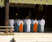 Shinto Temple Ritual Worship — Stock Photo