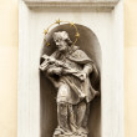 St. John of Nepomuk In Wall Niche — Stock Photo