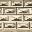 Czech Palace Wall Pattern - Stock Photo