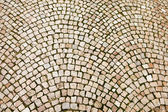 Cobblestone Pattern On Czech Street — Stock Photo