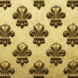 Stock Photo: Fleur de Lis Pattern In Gold