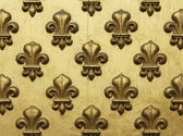 Fleur de Lis Pattern In Gold — Stock Photo