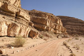 Dirt Road In The Negev Desert — Stock Photo