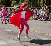 Super Hugger In The Parade — Stock Photo