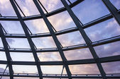 Sunset Clouds Through Glass Roof — Stock Photo
