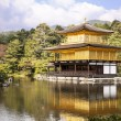 Golden Pavilion Across Pond — Stock Photo