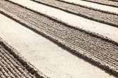 Lines In Zen Sand Garden — Stock Photo