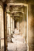 Corridor In Angkor Wat — Stock Photo