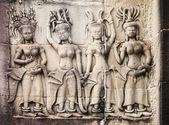 Carvings Of Women At Angkor Wat — Stock Photo