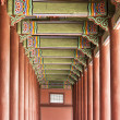 Korean Palace Corridor — Stock Photo