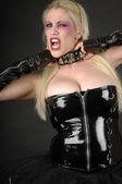 Blonde goth — Stock Photo