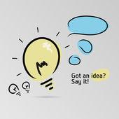 Got an idea? Say it! — Stock Vector