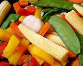 Frozen Assorted Vegetables — Stock Photo