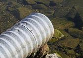 El tubo de drenaje — Foto de Stock