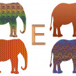 E is for Elephants — Stock Photo