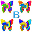 B is for Butterfly — Stock Photo