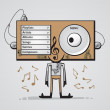 Listening to music — Image vectorielle