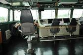 Warship control bridge — Stock Photo