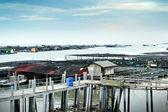 Fishing village in Kukup — Stock Photo