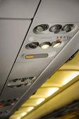 Commercial aircraft interior — Stock Photo