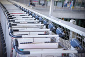 Lined up trolleys — Stock Photo