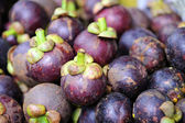 Fresh mangosteen background — Foto Stock