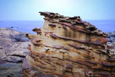 Nanya unique rock formations — Stock Photo