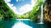 Prachtige magische waterval — Stockfoto