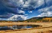 Desert lake — Stock Photo