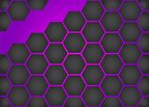 Purple honeycomb background — Stock Vector