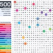 500 icons set. — Stock Vector