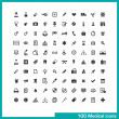 100 medical icons. — Stock Vector