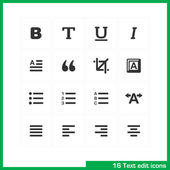 Text edit icon set. — Stock Vector