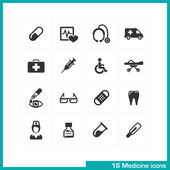 Medicine icons set. — Stock Vector