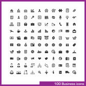 100 business icons set. — Stock Vector