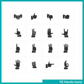 Hands gestures icon set. — Stock Vector