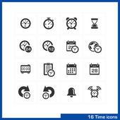 Date and time icons set. — Vector de stock