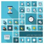 Clock, alarm, calendar, organizer symbols — Stock Vector #48300283